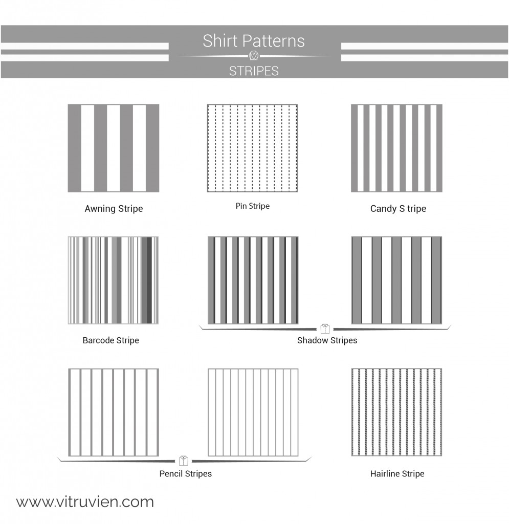 shirt infographics stripes