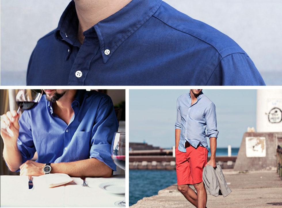 Mens Blue Custom Shirts