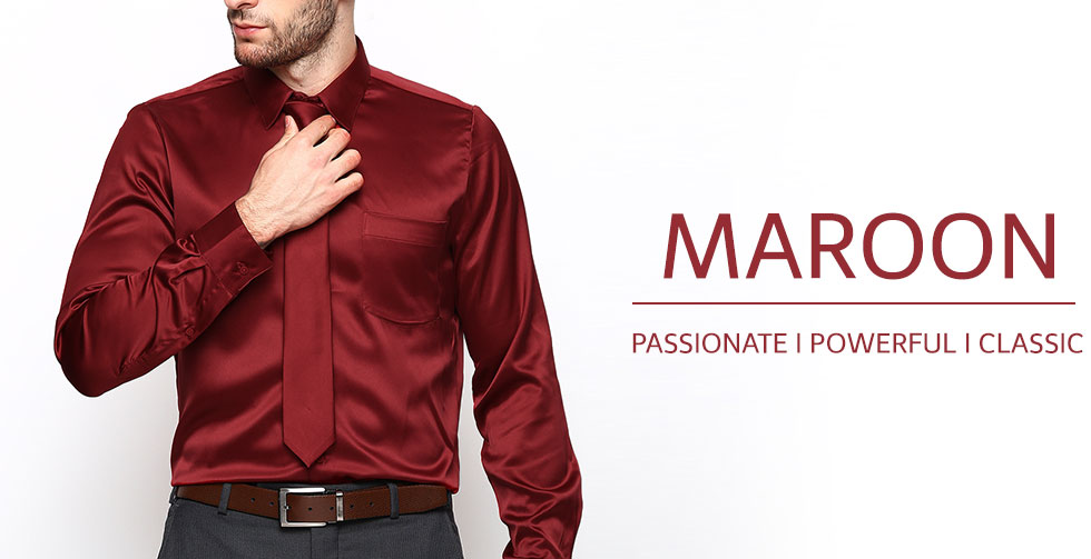 Men's Maroon Custom Shirt