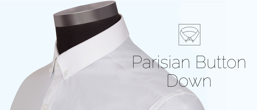 parisian Button down collar