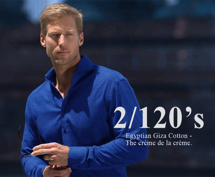 Blue Solid Custom Shirt