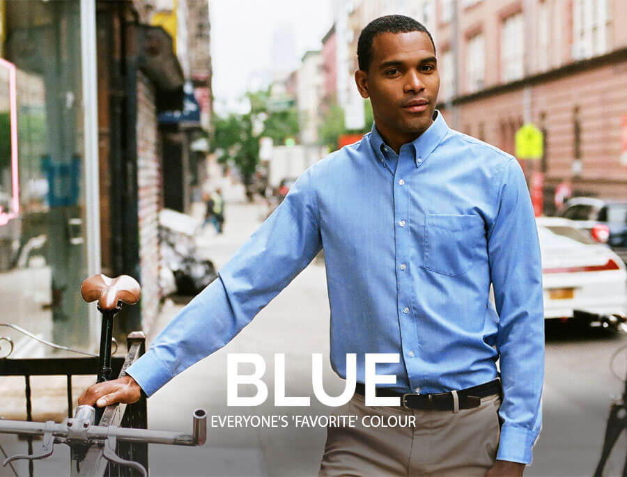 Blue Custom Shirt for Men