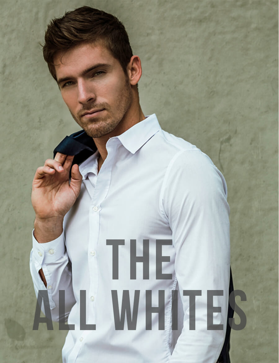 White Formal Men's Custom Shirt