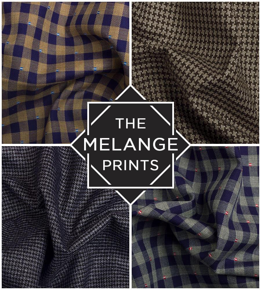 Melange Printed Custom Shirts