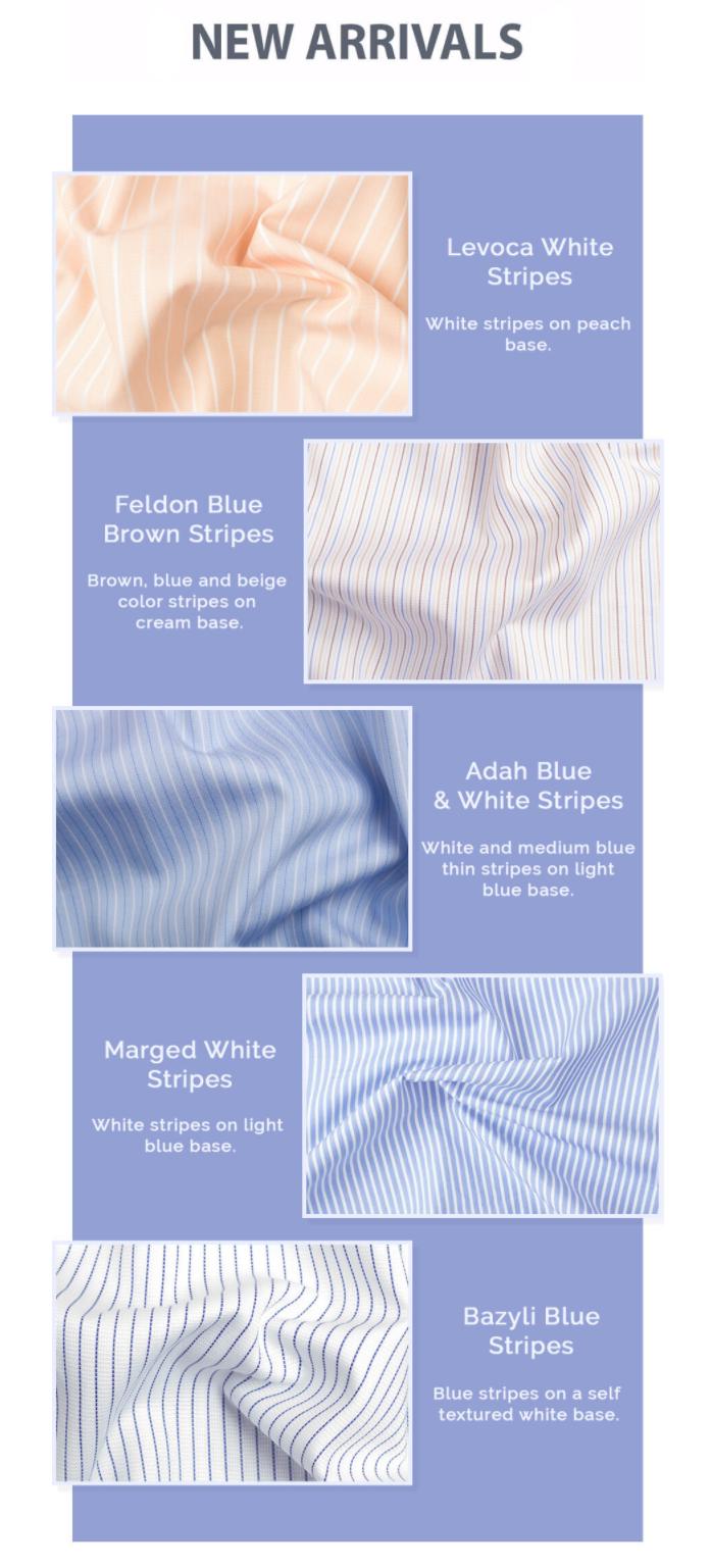 Men's Stripe Tailored Shirts