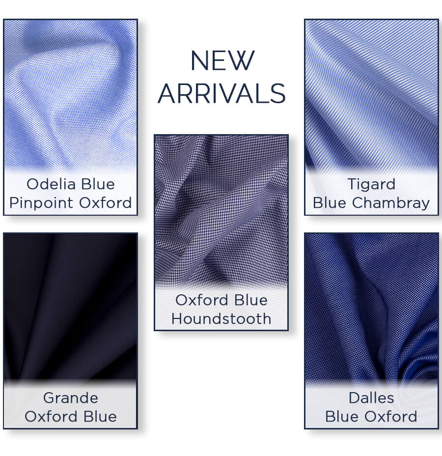 Blue Tailored Men's Shirts